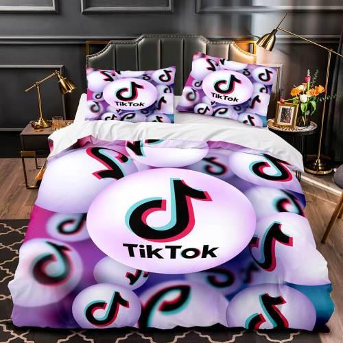 Tiktok Comforter Bedding Sets Tik Tok Quilt Duvet Covers Bed Sheets