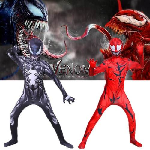 Red Venom 2 Let There Be Carnage Jumpsuit Bodysuit Cosplay Costume