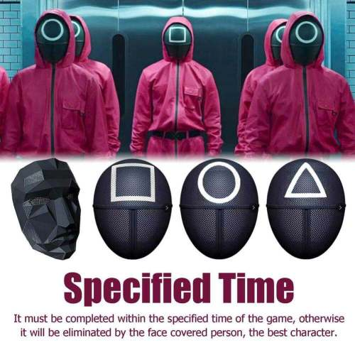 Tv Squid Game Cosplay Mask Halloween Masquerade Face Mask Props