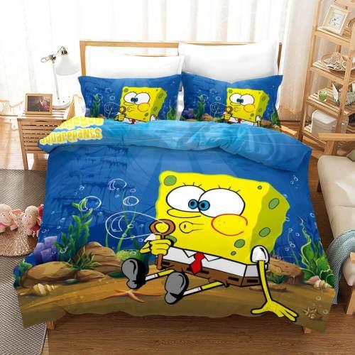 Cartoons Spongebob Squarepants Bedding Sets Duvet Covers Bed Sheets