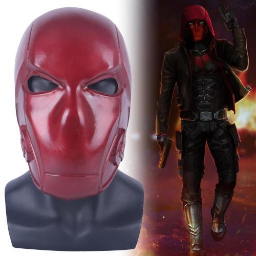 Titans Season 3 Red Hood Cosplay Latex Helmet Halloween Prop