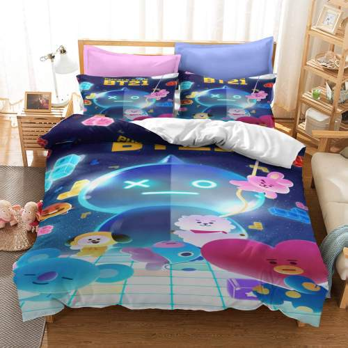 Classic Cartoon Image Bedding Set Duvet Covers Comforter Bed Sheets