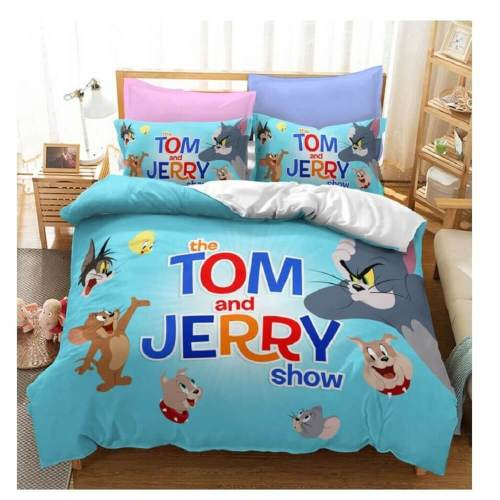 Tom And Jerry Cosplay Bedding Sets Duvet Covers Comforter Bed Sheets