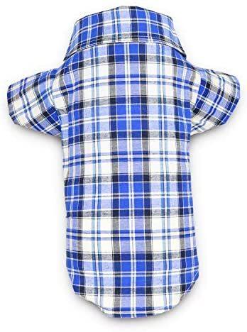 DroolingDog Dog Polo Tee Plaid Shirts for Dogs