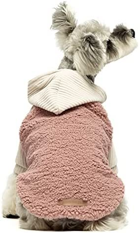 Fitwarm Velvet Thermal Dog Coat Puppy Winter Clothes Girl Pet Jacket Cat Hoodie Outfits Pullover Doggie Sweatshirt