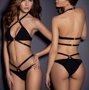 Black bikini swimsuit LE4162