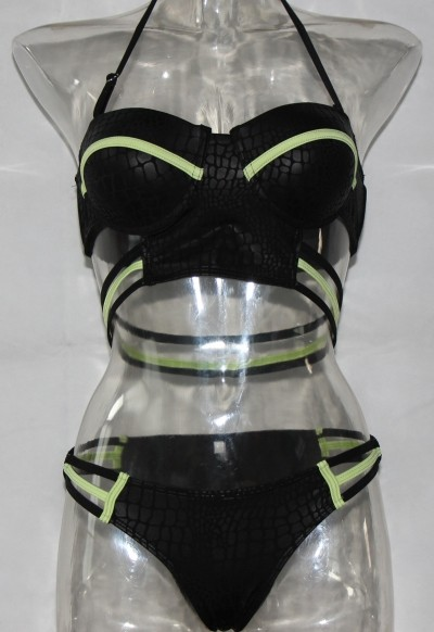 Mixed colors print rubber bandage sexy bikini LE4172