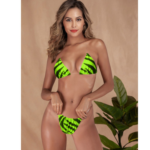 Transparent Straps Sexy Micro Thong Triangle Bikini Swimwear