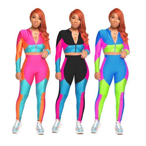 Contrast two piece sets womens Sportswear