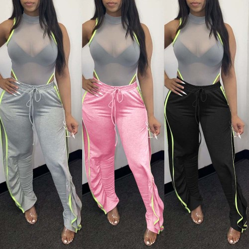 Side Split Casual Pants women Trousers