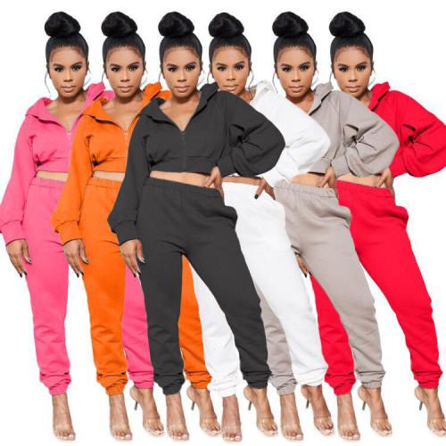 Pure Color Fashion Leisure Sports Set
