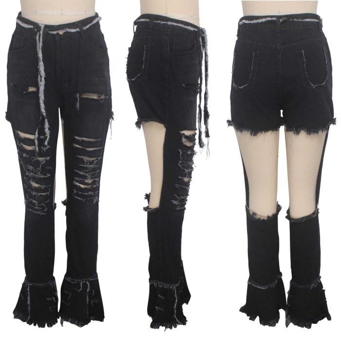 Extreme Rupture Black Jeans