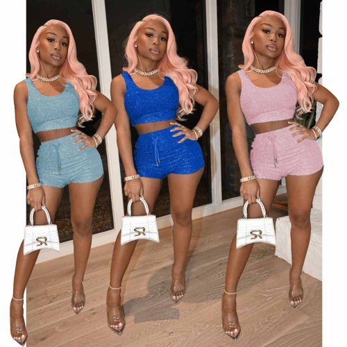 Symphony Two-Piece Fitted Vest Shorts Set
