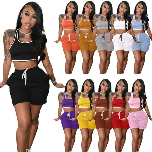 tank top and shorts 2 piece sportwear