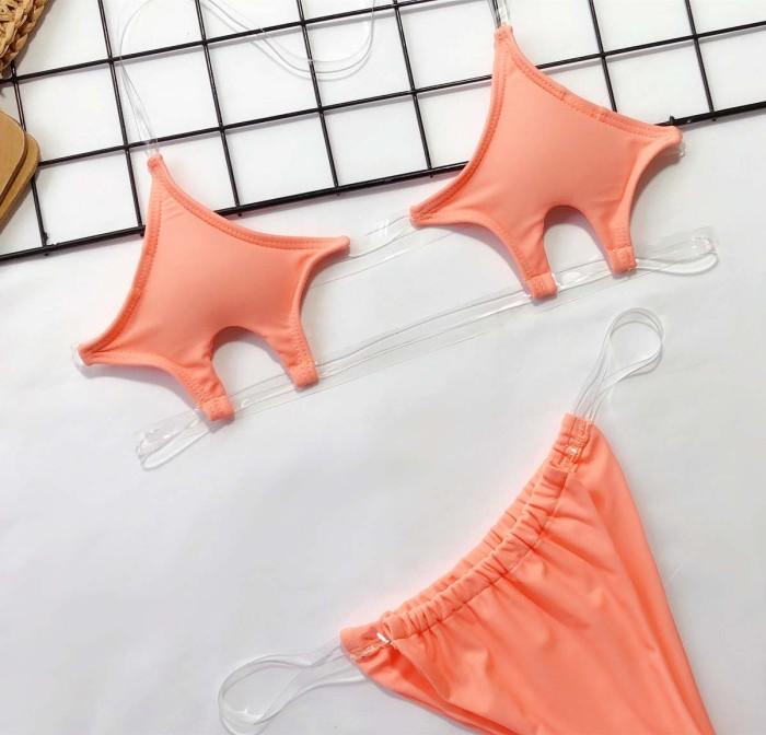 Transparent strap Bikini Swimwear