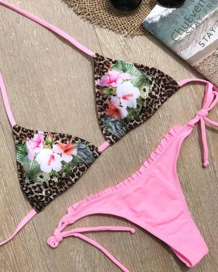 Straps Halter Bikini Set LE17129