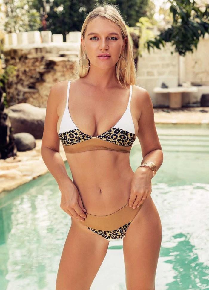 Leopard Print  High Waist Bikini Swimsuit