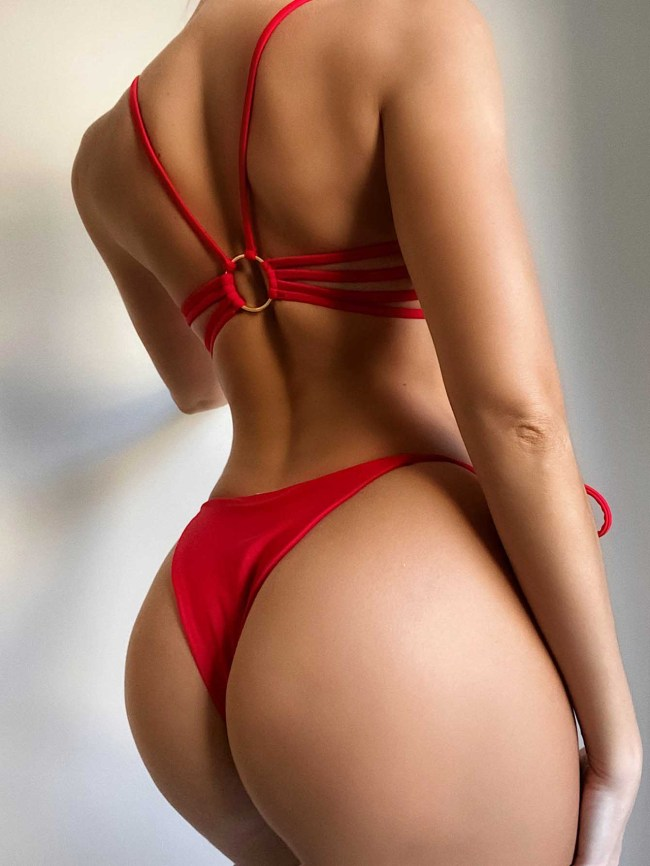 backless bikini women swimwear