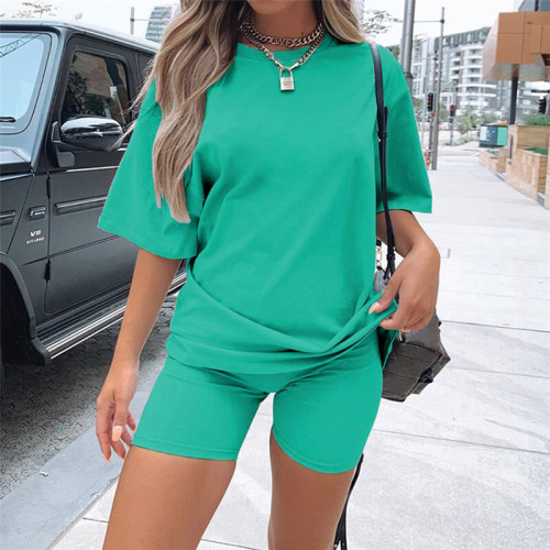 cotton candy color t shirt and short pant 2 piece outfit