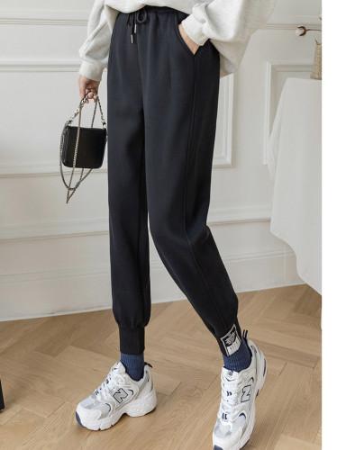 Cotton Plush padded sports warm pants