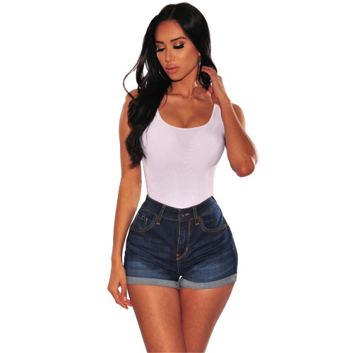 Tight Denim Blue Shorts