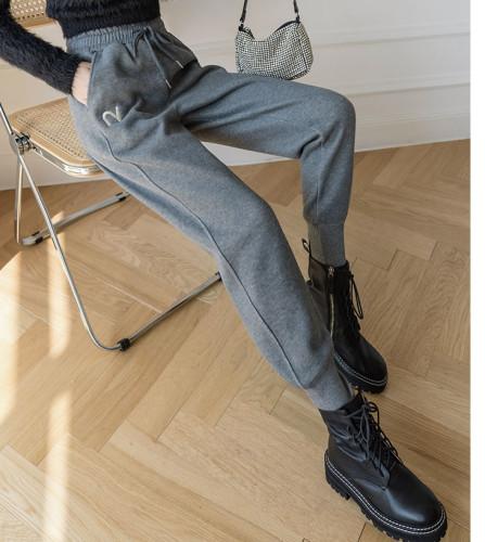 Cotton Sweatpants Women Plus Velvet Padded Feet Casual Sports Pants