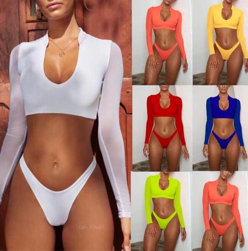 Mesh Long Sleeve Bikini