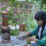 Liziqi Copper Distiller for Making Hydrosol and Essential Oil