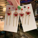 Hanfu Accessories Retro Pearl Crane Antique Style Ear Hook Earring