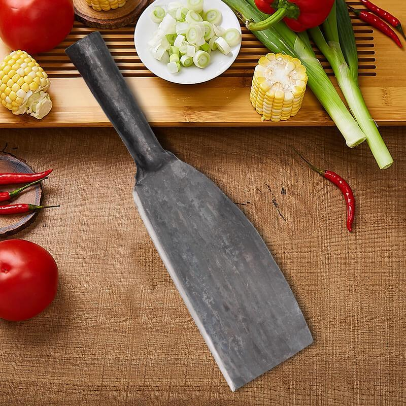 Chinese Traditional Hand-forged Kitchen Knife Chopper for Bones, Wood, Chicken