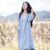 Loose Cotton And Linen Retro Hanfu Long Section Shirt - Li Ziqi Fairy Style Clothes Hanfu Style#hanfutiktok