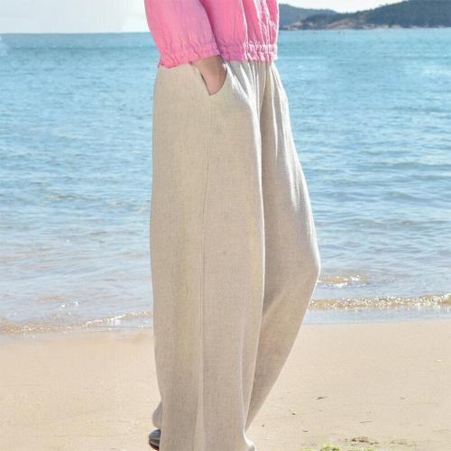 Loose Linen White Unisex Casual Pants - Li Ziqi Fairy Style Clothes Hanfu Style#hanfutiktok